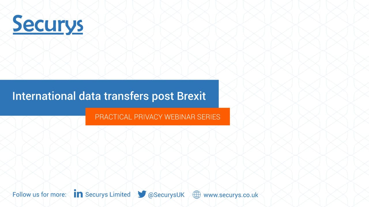 International data transfers post-Brexit