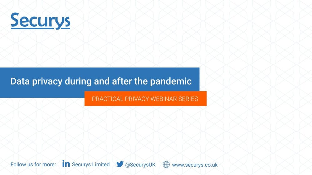 Data privacy during and after the pandemic