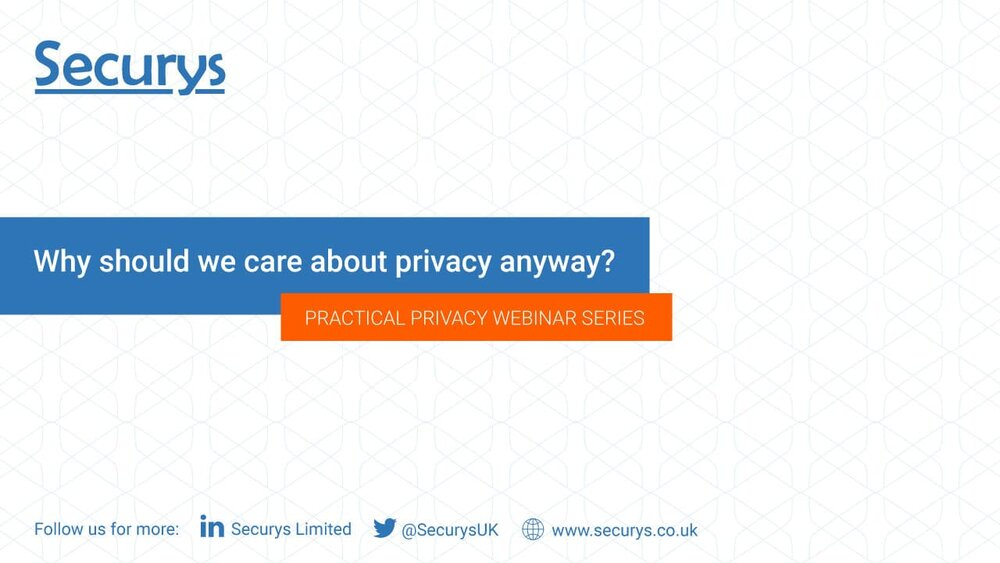 Why should we care about privacy anyway?