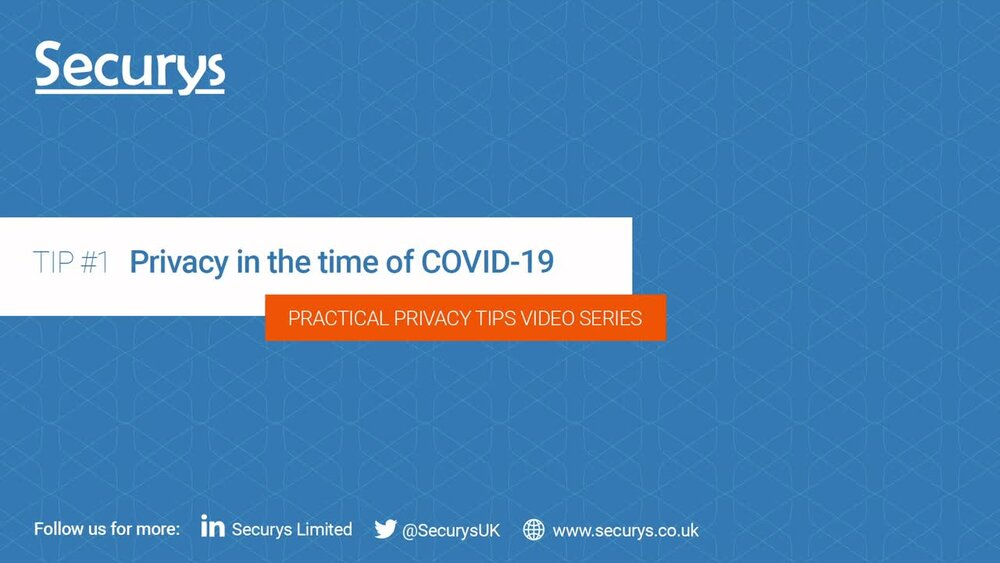 Privacy in the time of Covid-19